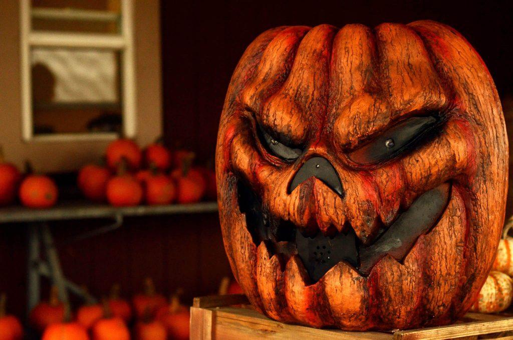 Evil Pumpkin Halloween Decoration
