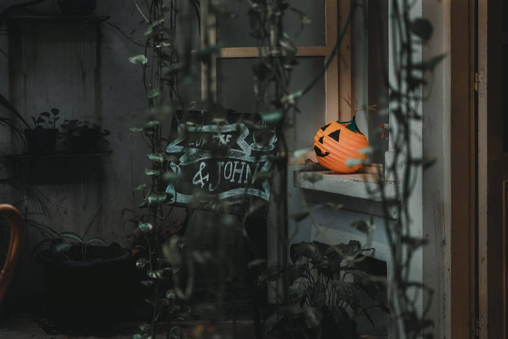 Pumpkin Window Halloween Decoration