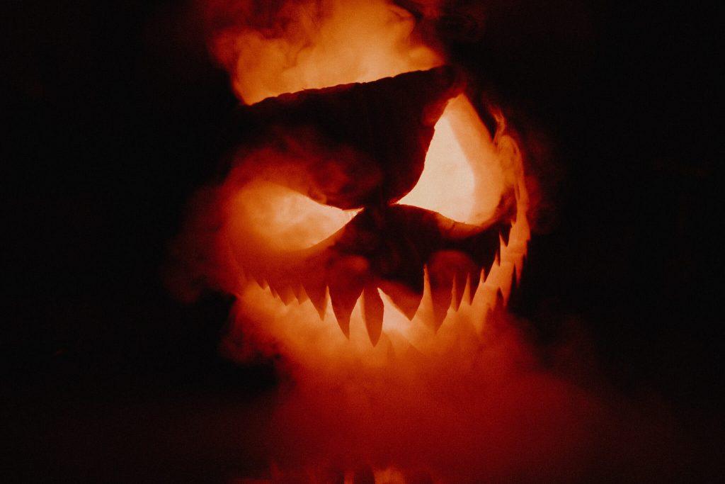 Smoke Pumpkin Halloween Decoration