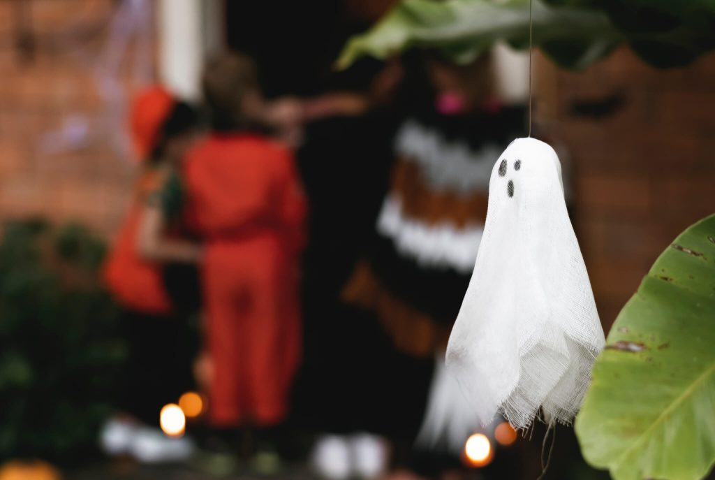 White Ghost Halloween Decoration