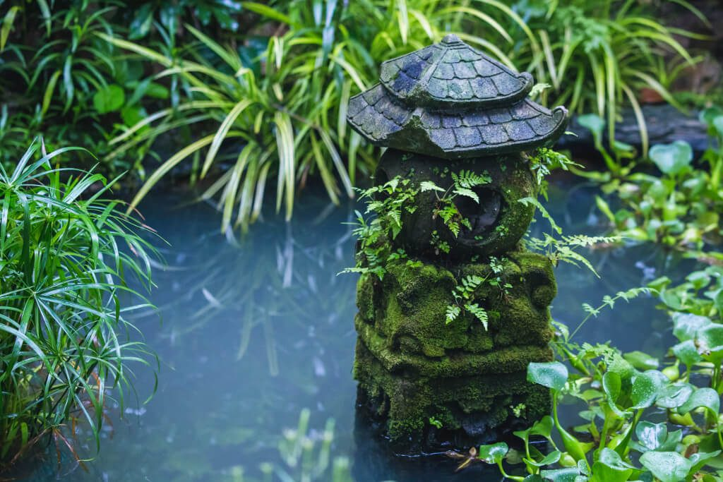 Oriental style pond
