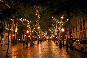 Christmas street tree decoration