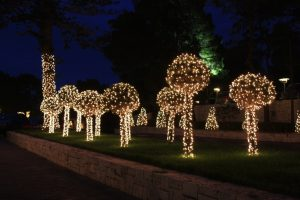 Christmas lights garden decor