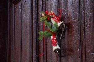 Christmas outdoor door decor