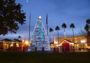 Christmas outdoor tree decor