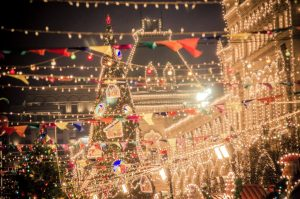 A palace Christmas decor
