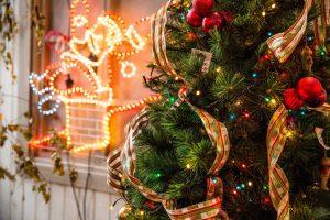 Front yard Christmas decor