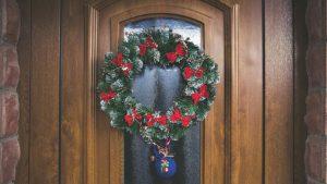 Moss wreaths Christmas decor
