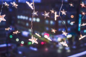 Stars lights Christmas decor